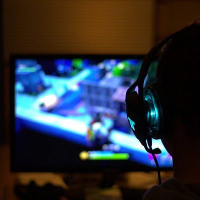 Playing video game with headset