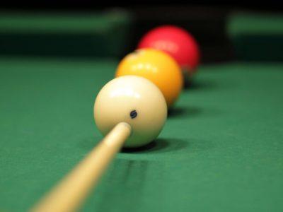 Billiards shot of 3 balls