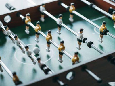 Single Goalie Foosball Table