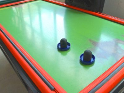 Worn air hockey table