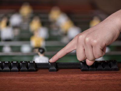 Marking a new score on foosball table