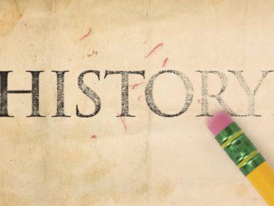Pencil erasing the word History