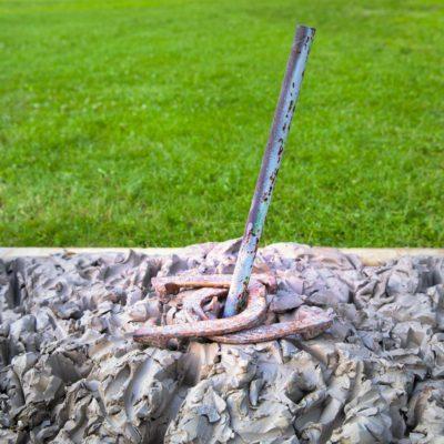 Clay Horseshoe Pit Double Ringer